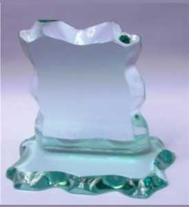 Vidro - Troféu Personalizado - Vidro Apicoado Liso