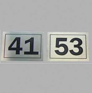 Indicativas e Identificação - Placa Numeração em Aço