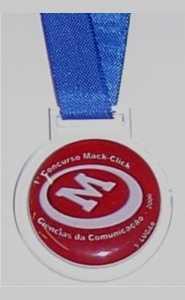 Medalhas - Acrílico - Medalha Personalizada em Acrílico com Adesivo